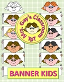 FREE Banner Kids Clipart