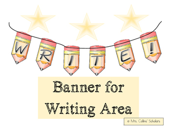 *FREE* Banner for Writing Area/Wall