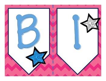 """Bannière de classe """"Bienvenue"""" - French """"Bienvenue"""" Banner"""