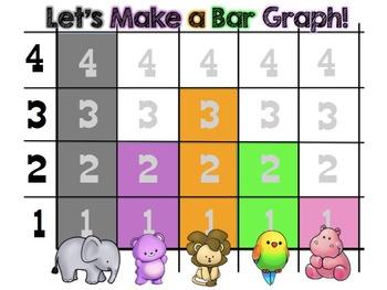 FREEBIE Bar Graph Zoo Animal Math Mini lesson