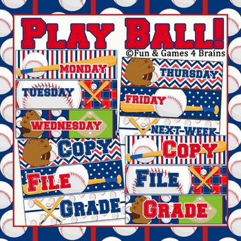 FREE!!! EDITABLE Baseball Themed Drawer labels