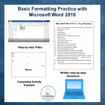FREE Ms Word 2016 Basic Formatting Practice