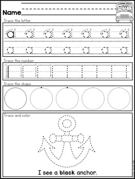 FREE Basic Skills Tracing Practice SAMPLE