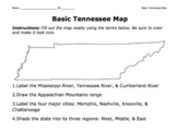 """Tennessee Map / Basic Geography of the """"Volunteer State"""""""