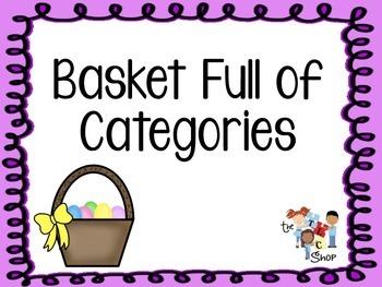 FREE! Basket Full of Categories