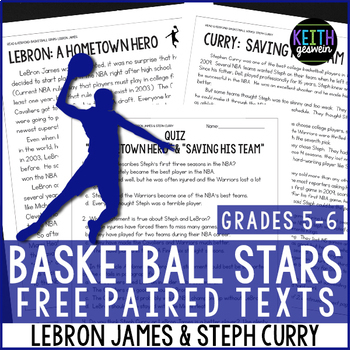 https://www.teacherspayteachers.com/Product/FREE-Basketball-Paired-Texts-LeBron-James-and-Steph-Curry-Nonfiction-Passages-2579774