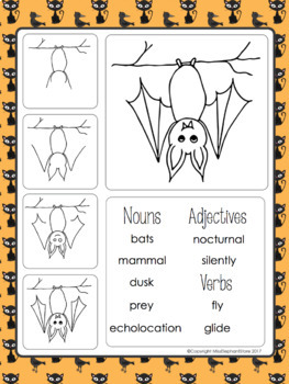 FREE Bat Directed Drawing and Writing Prompt