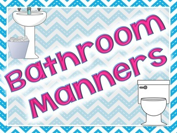 """FREE """"Bathroom Manners"""" posters"""