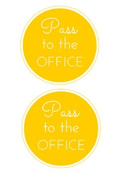 FREE Bathroom, Office, Nurse, and Library Passes {Cute & Colorful!}