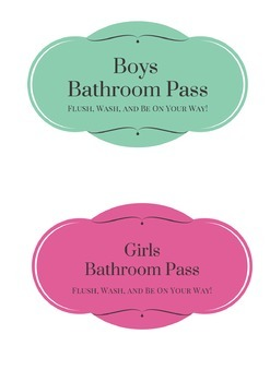 FREE Bathroom, Office, Nurse, and Library Passes {Cute & C