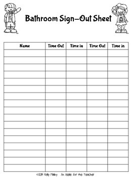 sign in out sheet