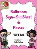 FREE Bathroom Passes And Sign-Out Sheet