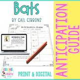FREE Bats by Gail Gibbons Anticipation Guide