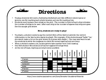 FREE Battleship: Word Forms