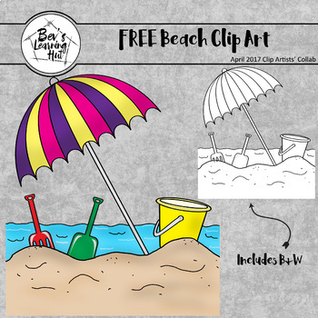 FREE Beach Clip Art | April 2017 Clip Artists' Collab