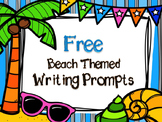 FREE Beach Themed Writing Prompts