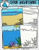 FREE Beach and Ocean Background Scenes Clip Art - Chirp Graphics