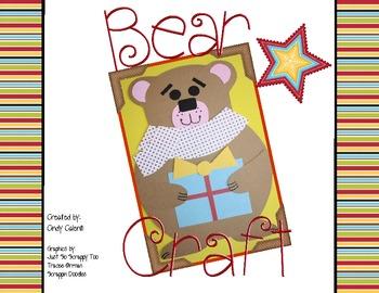 FREE Bear Craftivity and Literacy Activities