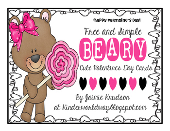 FREE Beary cute Valentine's Day Printables