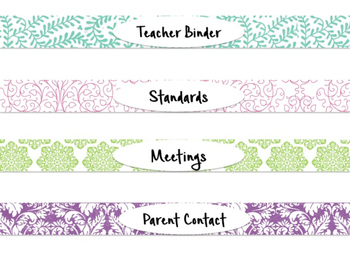 FREE Beautiful, Colorful Binder Spine Inserts