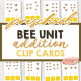 Bees Addition Clip Cards   Montessori Math for Spring Activity