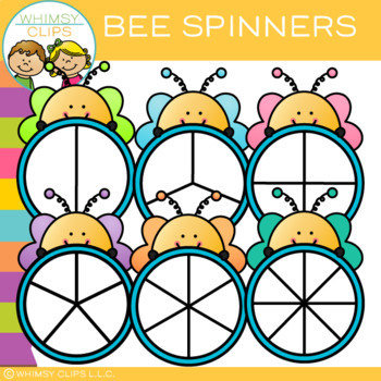 FREE Bee Spinners Clip Art