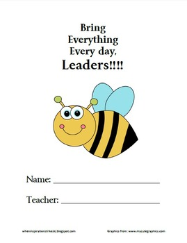 FREE Bee or Space Theme Leader Binder Covers