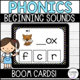 FREE Beginning Sounds BOOM Cards Distance Learning