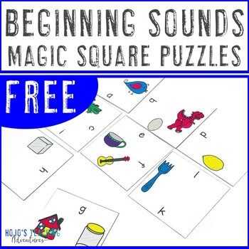 FREE Beginning Sounds Center Game