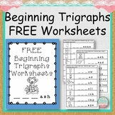 FREE Beginning Trigraphs Worksheets
