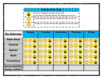FREE Behavior Accountability Buddy Chart