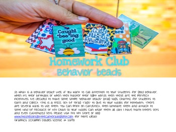 FREE Behavior Beads Homework Club