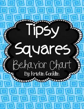 FREE Behavior Chart - Tipsy Squares