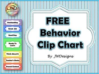 FREE Behavior Clip Chart