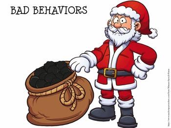 Behaviors Token Santa Activity