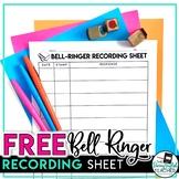 FREE Bell-Ringer Activity Log