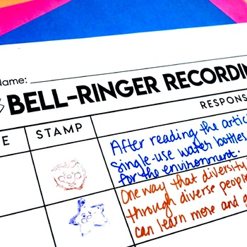 FREE Bell-Ringer and Do Now Recording Sheet