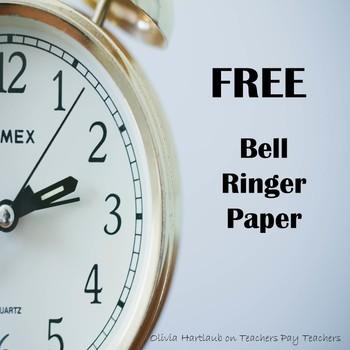 FREE Bell Ringer Paper