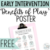 FREE- Benefits of Play Poster for Early Intervention and S