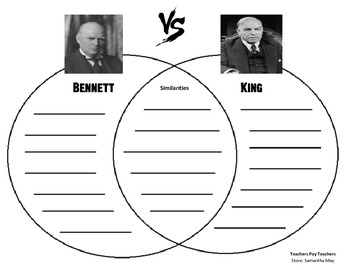 {FREE} Bennett vs. King (Graphic Organizer - Venn Diagram)
