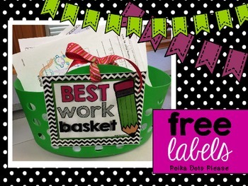 FREE Best Work Basket Labels