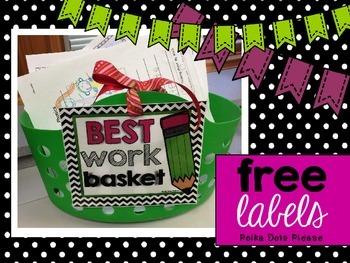 FREE Best Work Basket Labels