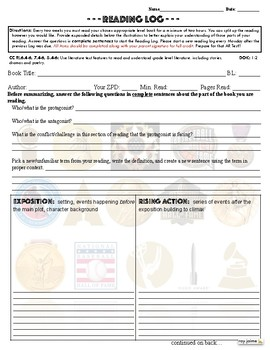 FREE Bi-Weekly Reading Logs - Award Winners Theme