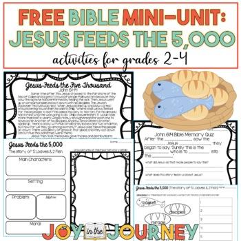 FREE Bible Unit: Jesus Feeds the 5,000
