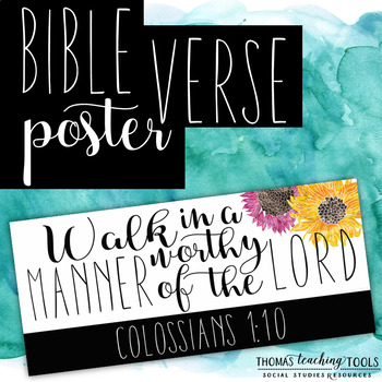 FREE Bible Verse Poster - Colossians 1:10