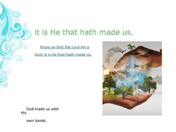 Memorize Scripture - Psalm 100:3 AWANA Bible Christian Education