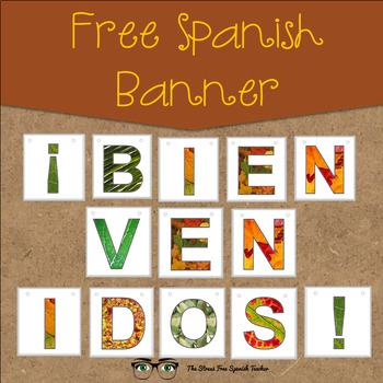 FREE Bienvenidos / Welcome Banner for Spanish classes!