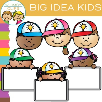 free big idea kids clip art by whimsy clips teachers pay teachers rh teacherspayteachers com Teacher Pay Teacher Winter Clip Art Monster Clip Art for Teachers