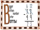 Bigger Bottom Number Better Borrow Anchor Chart