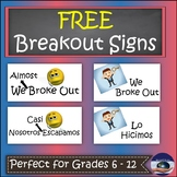 FREE Bilingual Breakout EDU Signs (Spanish & English)